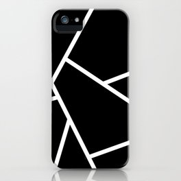 Black and White Fragments - Geometric Design II iPhone Case
