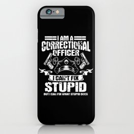 Correctional Officer iPhone Case