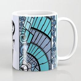 SEASIDE DECO - ART DECO LADY: BLUE MONDAY Coffee Mug