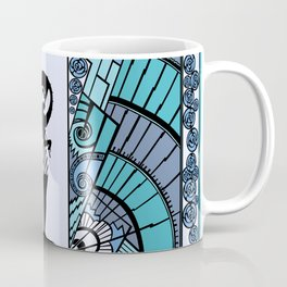 SEASIDE DECO - ART DECO LADY: BLUE MONDAY Coffee Mug
