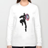 captain silva Long Sleeve T-shirts featuring Captain by Whimsy Notions Designs