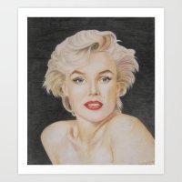 monroe Art Prints featuring Monroe by Kaileigh Gagnon