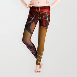 The Dancers Quick and Quicker Flew Burns Supper Leggings