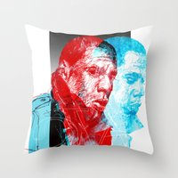 jay z Throw Pillows featuring JAY-Z by michael pfister