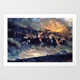 Peter Nicolai Arbo - The Wild Hunt of Odin - Digital Remastered Edition Art Print