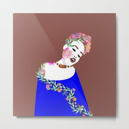 Flowered woman Metal Print