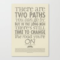 led zeppelin Canvas Prints featuring Led x Zeppelin - Stairway to Heaven by francesc coves