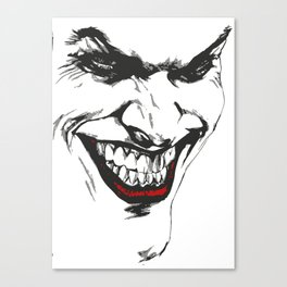 Joker vector Canvas Print