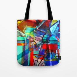 Primary Deconstruction Tote Bag