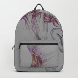 Powerful movement in grey Backpack