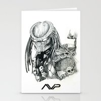 predator Stationery Cards featuring Predator. by Gary Barling