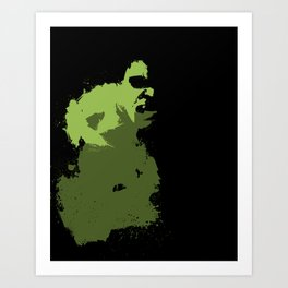 Hulk Splatter Art Print