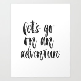 PRINTABLE Art,Let's Go On An Adventure,Nursery Decor,Adventure Awaits,Quote prints,Typography Art Art Print