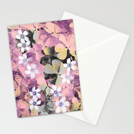 Lucky clover pink Stationery Cards