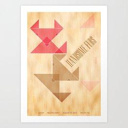Handsome Furs Gig Poster Art Print