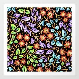 Filigree Flora Art Print