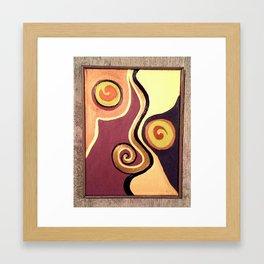 Smooth Caramel  Framed Art Print