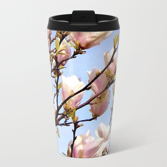Magnolia In The Sky Metal Travel Mug