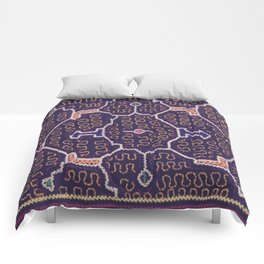 Song to Bring Wealth & Prosperity - Traditional Shipibo Art - Indigenous Ayahuasca Patterns Comforters