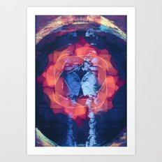 filaments + linoleum Art Print