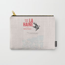 La Haine (Hate) Vincent Cassel, Mathieu Kassovitz, alternative movie poster, banlieue french film Carry-All Pouch