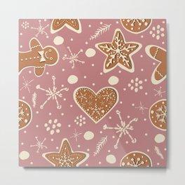 Gingerbread Cookie Metal Print