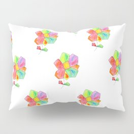 """Bloom Your LOVE"" Original Watercolor Flowers pattern Pillow Sham"
