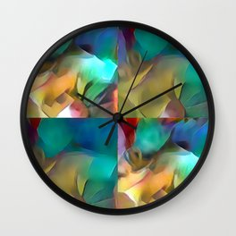 In Shape 29 (Multi Mosaic 4fold) Wall Clock