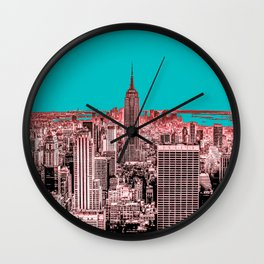New York Delineated Wall Clock