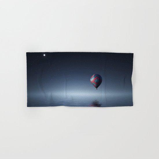 Hot Air Balloon Over Water Hand & Bath Towel