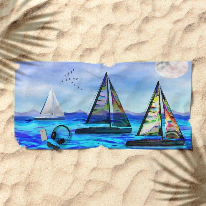 Beyond The Sea Beach Towel