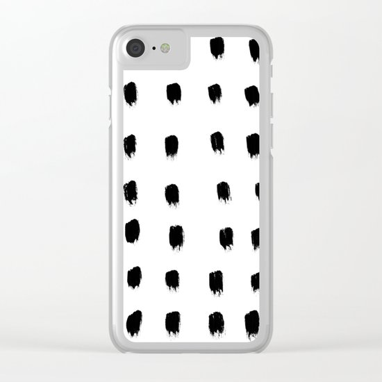 Jacques Pattern - Pure White Clear iPhone Case