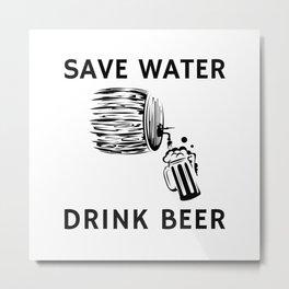 Barrel Beer Metal Print