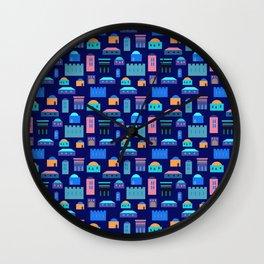 Jerusalem village-city pattern Wall Clock