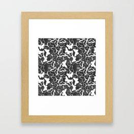 Butterfly pattern 011 Framed Art Print