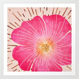 Pink Tropical Art Print
