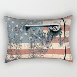 Door old car and falg USA America Rectangular Pillow