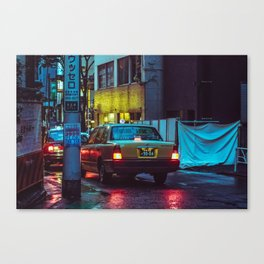 4am Taxi Canvas Print