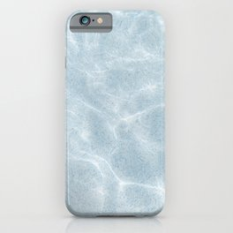 Clear ocean sea waves   Blue color water at the beach   travel photography art print iPhone Case