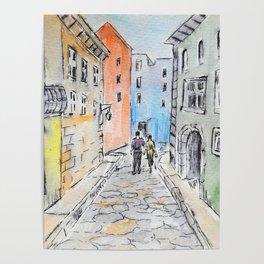 Italian street Poster