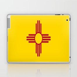 flag new mexico-usa,america,sun,Zia Sun symbol,New Mexican,Albuquerque,Las Cruces,santa fe,roswell Laptop & iPad Skin