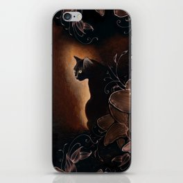Black Kitty Halloween iPhone Skin