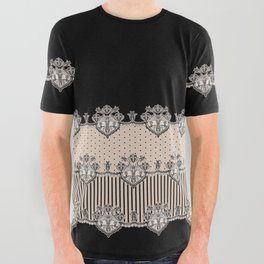 Dakota Black Lace All Over Graphic Tee