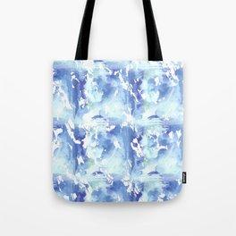 Blue Watercolor Digital Design Tote Bag