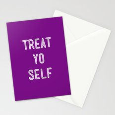 Treat Yo Self Purple - Parks and Recreation Stationery Cards