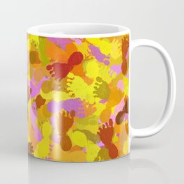 Abstract Footprints Coffee Mug