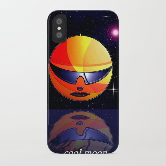 COOL MOON. iPhone Case