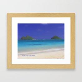 Lanikai Beach #2 Framed Art Print