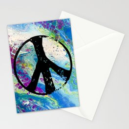 Peace and pouring Stationery Cards