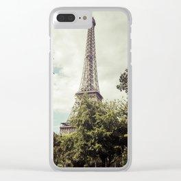 Vintage Paris Landscape Clear iPhone Case